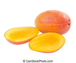 Fresh delicious mango fruit and slice