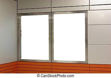 blank billboard indoor