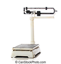 Mechanical Beam Scale - A short, antique mechanical or...