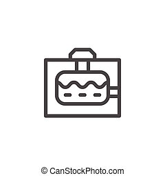 Sewerage tank line icon isolated on white. Vector...