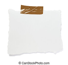 ripped white paper note message background - ripped white...