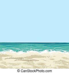 ocean and sand beach