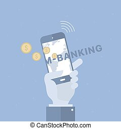Mobile banking background.