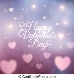 Happy Valentines Day card. 14 February. Abstract romantic...