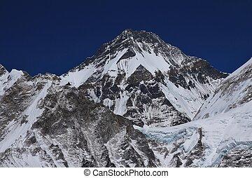 Khumbutse, high mountain seen from Kala Patthar - Khumbutse....