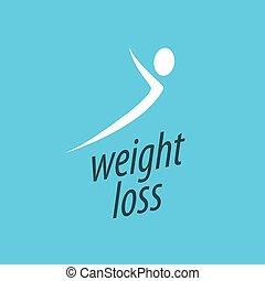 weight loss logo - pattern design logo weight loss. Vector...