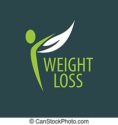 weight loss logo - pattern design logo weight loss. Vector...