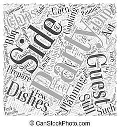 Planning a BBQ Clambake Partywps Word Cloud Concept