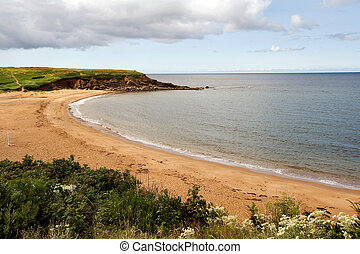 Nova Scotia beach - Sandy beach near Inverness, Cape Breton,...