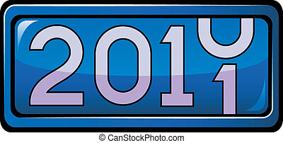 New Year display 2011 Vector over white EPS 8, AI, JPEG