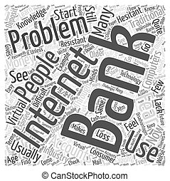 Problems with Internet Banking Word Cloud Concept