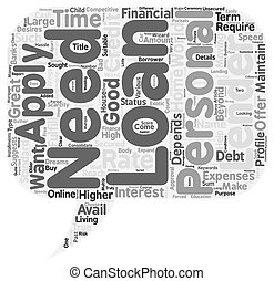 Personal Loan For You text background wordcloud concept