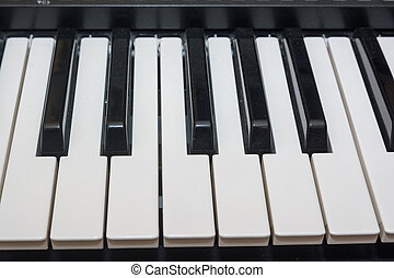 Close-up electric piano - Close up image of electric piano...