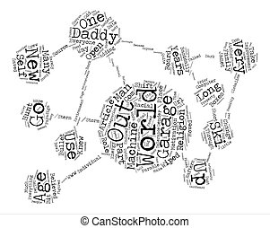 Parable for a New Age text background word cloud concept