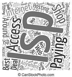 Paying For ISP Internet Access Word Cloud Concept