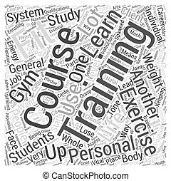personal training courses Word Cloud Concept
