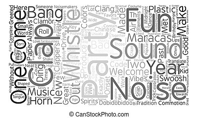 Party Sounds And Uproars text background word cloud concept