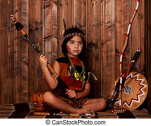 Little Indian Girl - Little Girl disguised as an Indian...