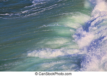 Sea surf great wave break on coastline