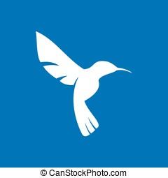 Flying Hummingbird Colibri Symbol - Logo design of Flying...