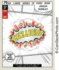 Exclusive. Explosion in comic style with lettering and...