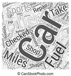 SC sports car maintenance Word Cloud Concept
