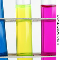 science concept - chemistry lab glassware equipment (test tubes