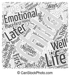 Protect your Childs Emotional Well Being Word Cloud Concept