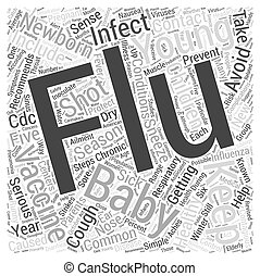 Protect your newborn from the flu Word Cloud Concept