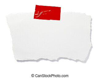 ripped white paper note message background