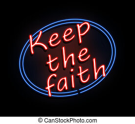 Keep the faith sign.