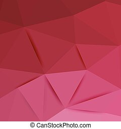 Abstract pink graphic art. Vector polygonal background with...