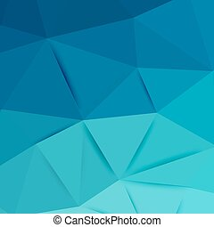 Abstract blue graphic art. Vector polygonal background with...