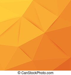 Abstract orange graphic art. Vector polygonal background...