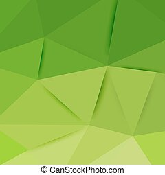 Abstract green graphic art. Vector polygonal background with...