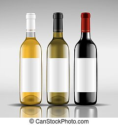 bottles of red and white wine