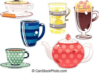 Various hot beverages.eps