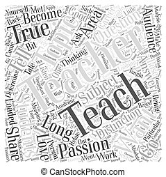 So What Do You Want to Teach Word Cloud Concept