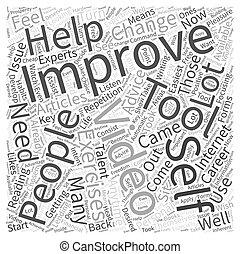 Self Improvement Video Word Cloud Concept