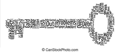 Short Term Debt Problems Take Control Word Cloud Concept Text Background