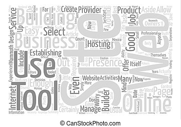 Start With A Site Builder For Your Website Word Cloud Concept Text Background