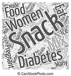 Snack Ideas for Women with Gestational Diabetes Word Cloud Concept