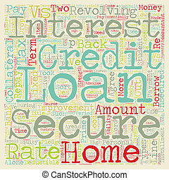 Secure vs Unsecured Loans text background wordcloud concept