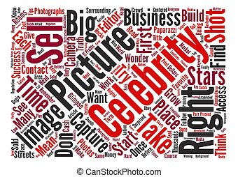 Sell Celebrity Photos For Big Profits text background word...
