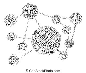 Some Top Hobbies Of Retirees text background word cloud...