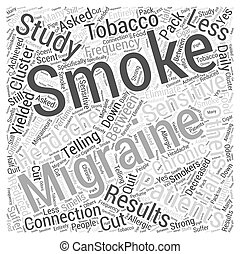 Smoking and Migraines Word Cloud Concept