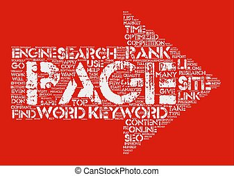 SEO in a BOX text background wordcloud concept