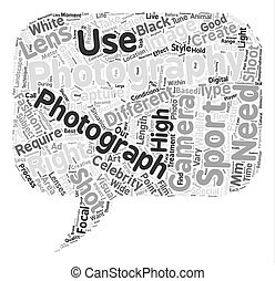 Specialized Styles of Photography text background word cloud...