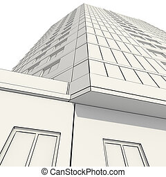 3D construction of office building