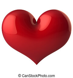 Heart classic (Hi-Res) - Red shiny heart shape. Isolated on...